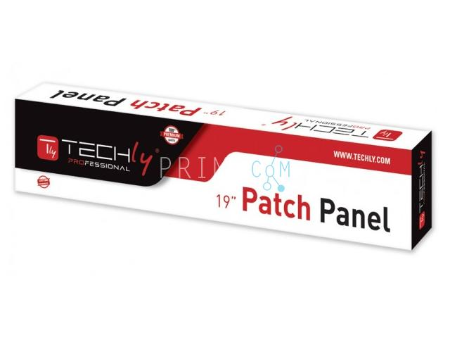 Techly I-PP 24-RS-C6T, CAT6, FTP fully shielded, 1U, patch panel 24 port, Black 305915