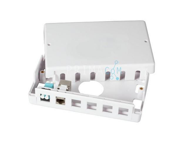 Keystone Surface Mounted Box 12 port UTP, white