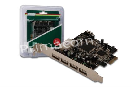 DS-30202 USB 2.0, 4+1 Port, PCI Express Add-On card