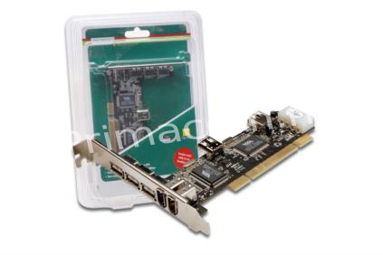 DCST USB2/4-1394/3V Interne PCI card USB 2.0 & IEEE 1394 (254478)