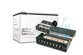DN-91608SD Desktop CAT6 patch panel, shielded 8-port RJ45, 8P8C, LSA Color black RAL 9005