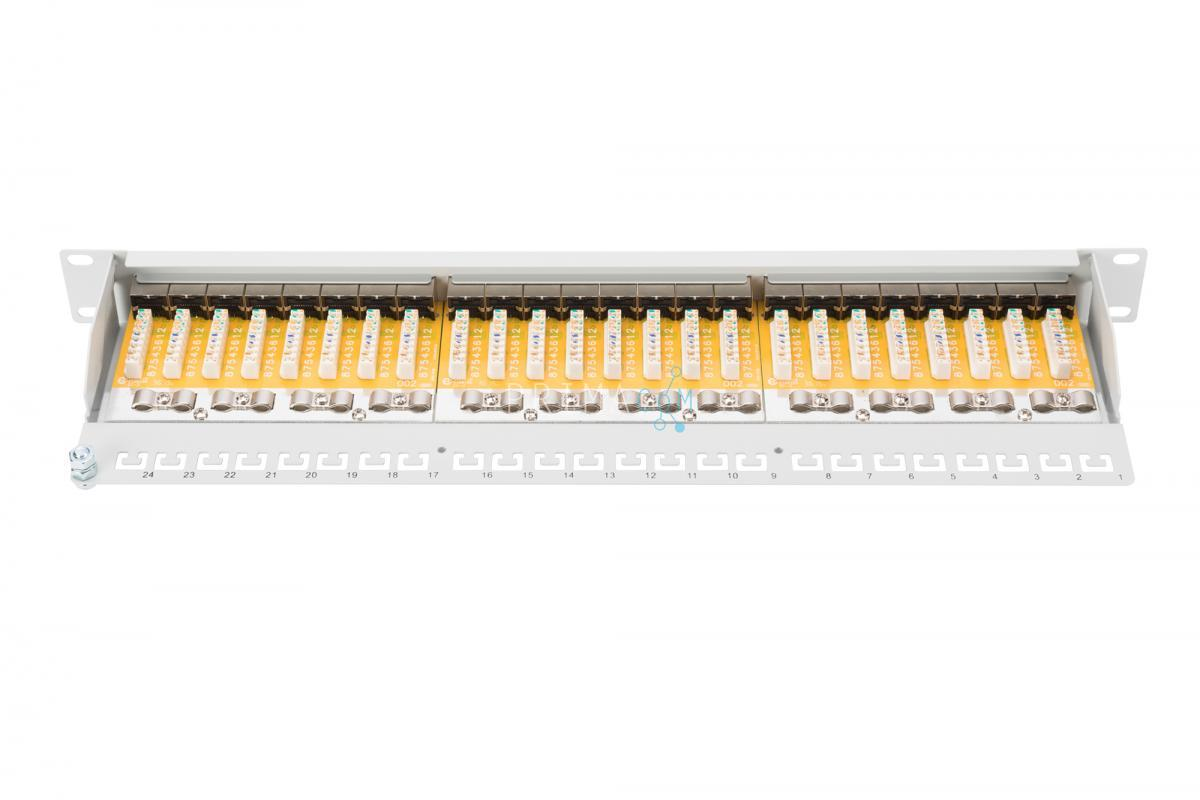 DN-91624S CAT6 STP 19 patch panel 24 port, 1U fully shielded