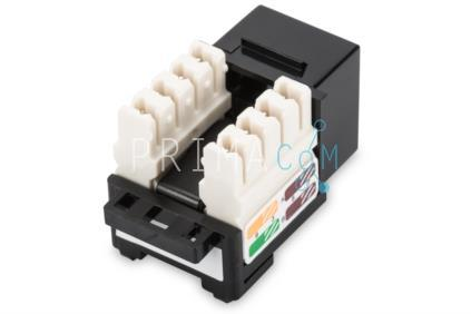 DN-93501 Keystone jack, RJ45, CAT5E, RJ45 F-LSA unshielded, black (157427)