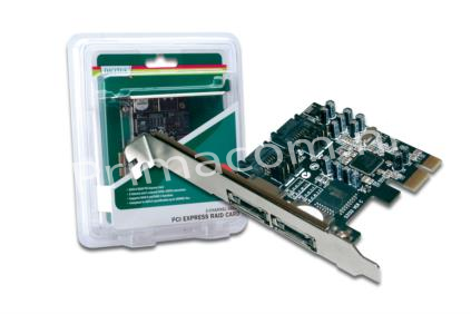 DS-30102 PCI Express SATA II Card, 2x SATA II Channel 2SATA/ex:2eSATA,selectable