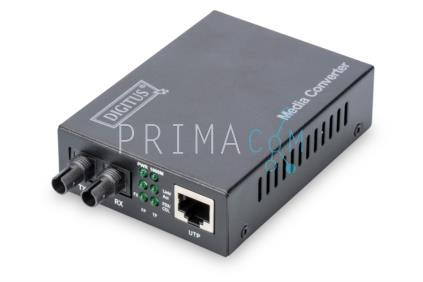 DN-82110-1 Converter, Multimode, 10/100/1000Base-T to 1000Base-SX, Incl. PSU STup to 0.5km (293118)