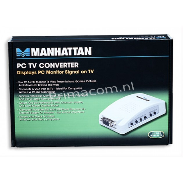 PC TV Converter displays PC monitor signal on TV