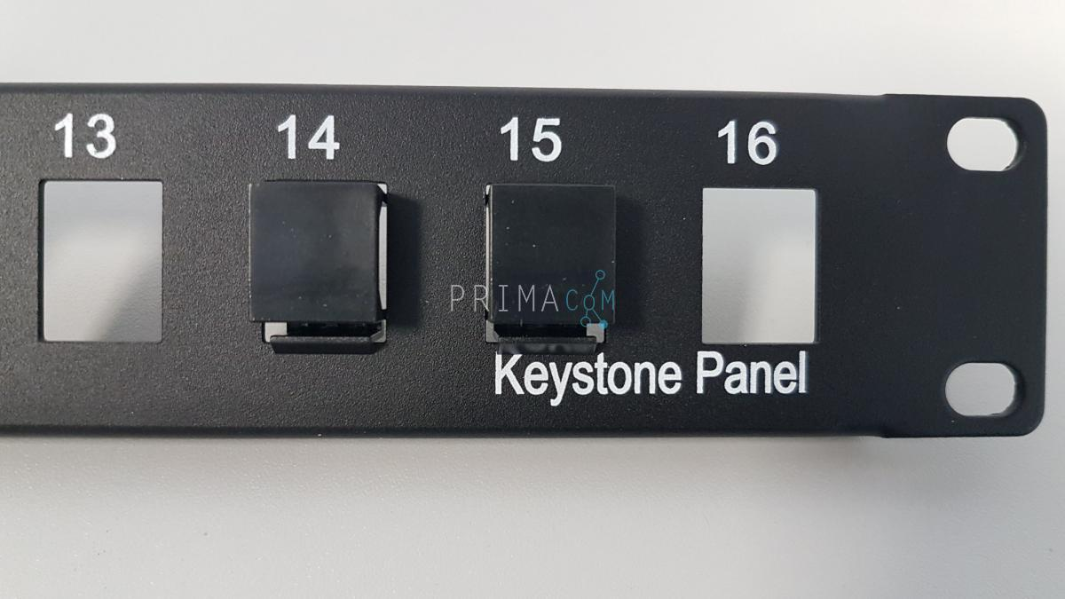 blind plate for modular patch panel