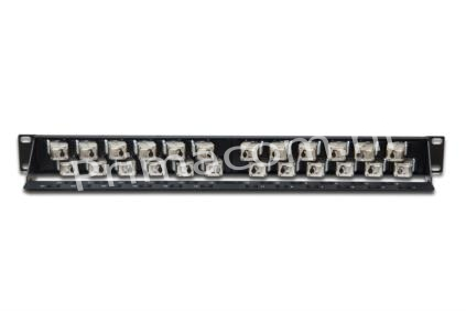DIGITUS® staggared modular Patch Panel, 24-port (angled)