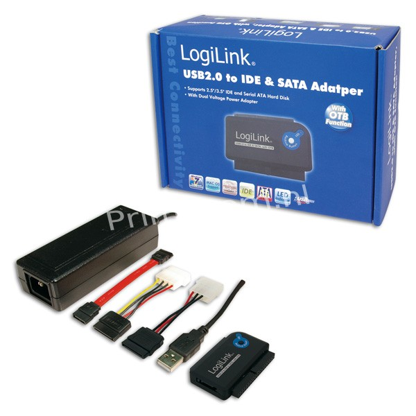 AU0006C Adapter USB 2.0 to 2,5 + 3,5 Zoll IDE + SATA HDD OTB
