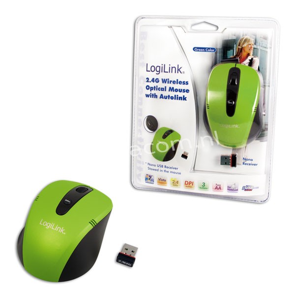 ID0048 Optical Mini-Notebook-Mouse  Wireless 2.4 GHz GREEN