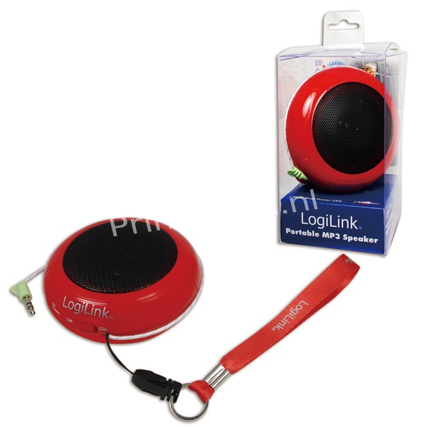 SP0015 Portable Active Speaker Hamburger with rechargable battery RED
