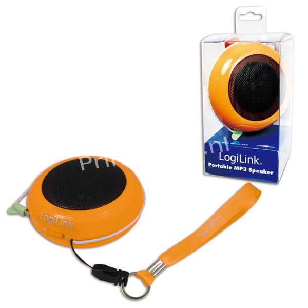 SP0016 Portable Active Speaker Hamburger with rechargable battery ORANGE