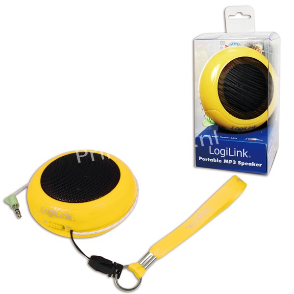 SP0017 Portable Active Speaker Hamburger with rechargable battery YELLOW