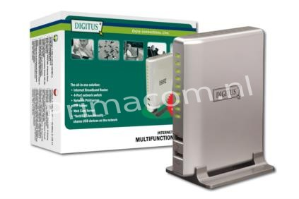 DN-11009 Internet broadband router w. 4PortN-Way switch allround router