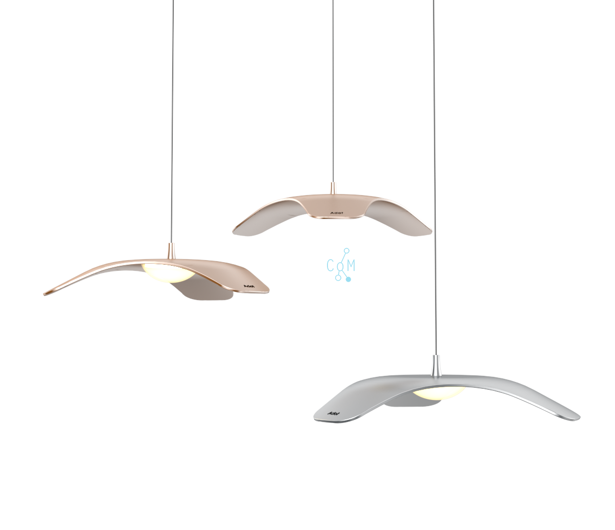 Adotled Pendant Lamp Dark Grey, 10W, Þ 340mm. 3000K, 850lm